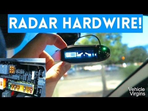 GET RID OF THOSE ANNOYING CORDS || Hardwiring Your Radar Detector