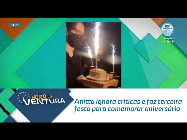 Anitta ignora críticas e faz terceira festa para comemorar aniversário