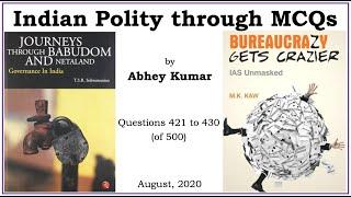 Indian Polity through MCQs by Abhey Kumar - Q421 to Q430