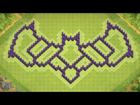 Clash of Clans - Cool Town Hall 8 Hybrid Base (Batman) Speed Build