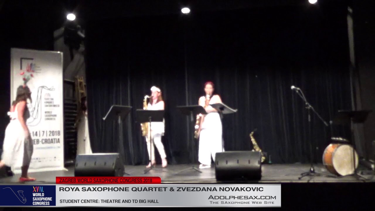 Beautiful white Mask by Zvezdana Novakovic   Roya Saxophone Quartet & Zvezdana Novakovic  XVIII Worl