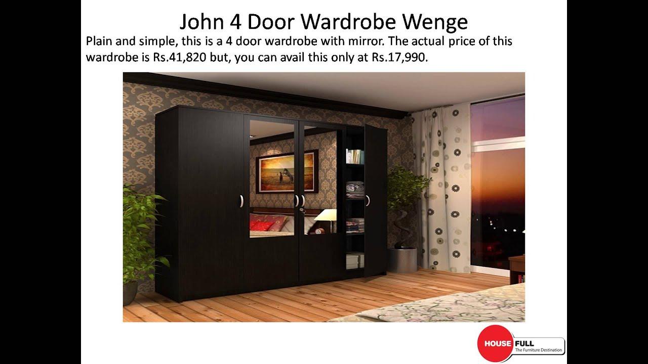 Buy 4 Door Wardrobe Online In India At Housefull.co.in