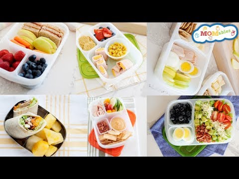 Healthy and Fast School Lunch Ideas -  5 minute lunches