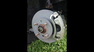 hyundai Accent 2. Замена тормозных дисков и колодок