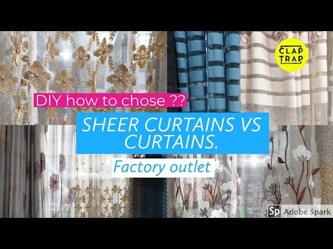 CURTAINS VS SHEER CURTAINS | WHAT IS MORE USEFUL ? DIY HOMEDECOR