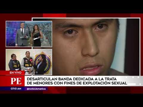 Policía peruana arrestó a presuntos traficantes de personas
