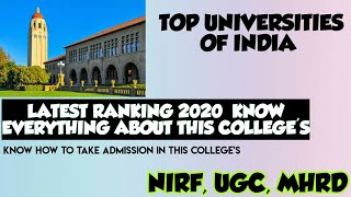Top central University of india    LATEST RANKING 2020    UNIVERSITIES OF INDIA TOP 4 UNIVERSITIES