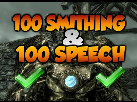 Skyrim Level 100 Smithing Fast And Easy!! (Special Edition) + 100 Speech