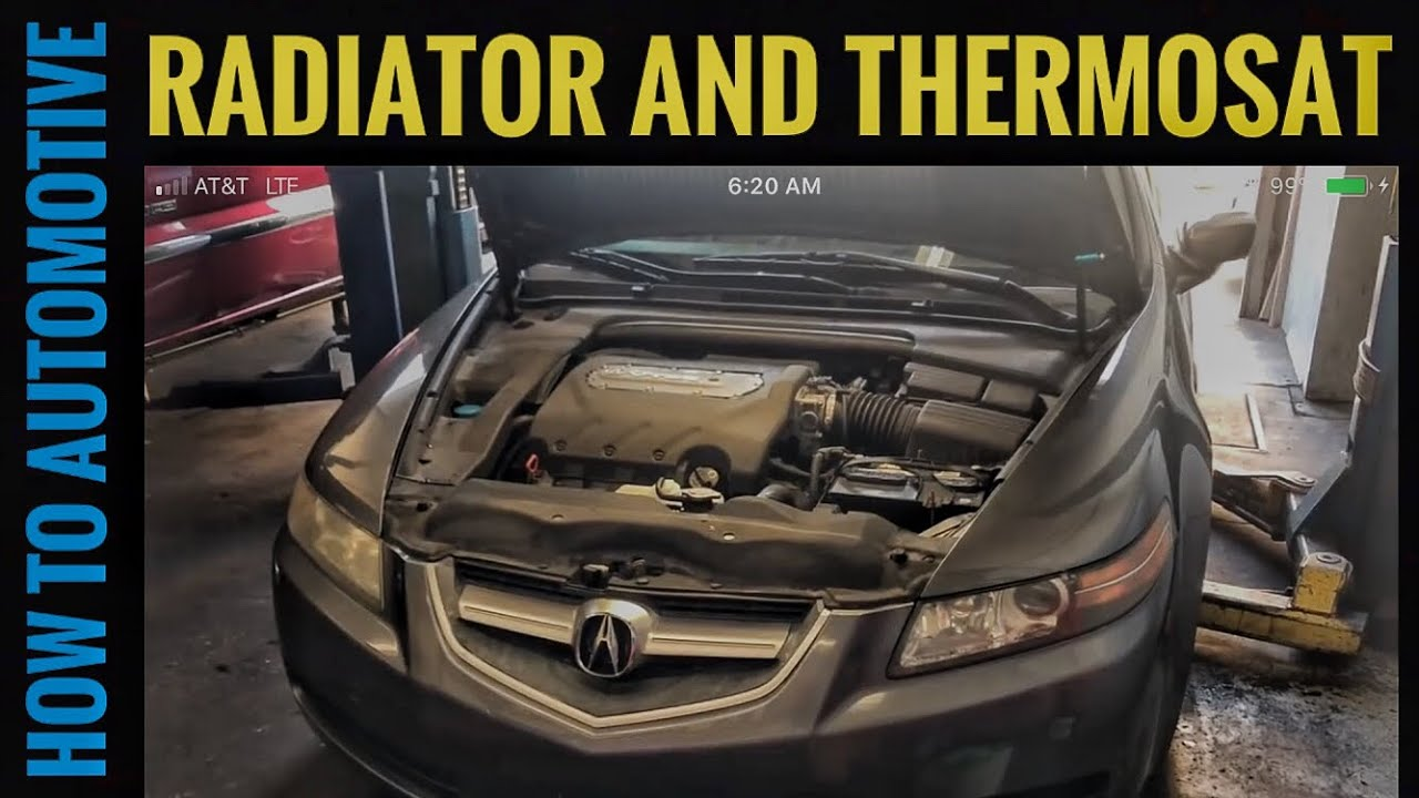 how to replace the radiator thermostat and hoses on a 2004 2008 2011 acura tl engine diagrams autos post [ 1280 x 720 Pixel ]