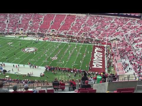 University of Alabama Football Pregame Warmup! November 18, 2017