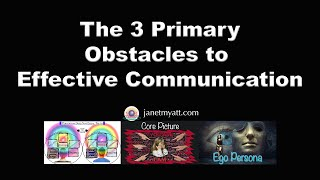The 3 Primary Obstacles to Effective Communication