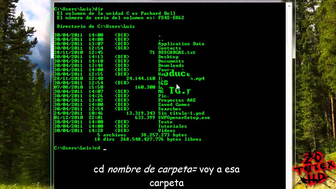 como usar cmd ms dos comandos windows parte 1 2 2011 hd youtube