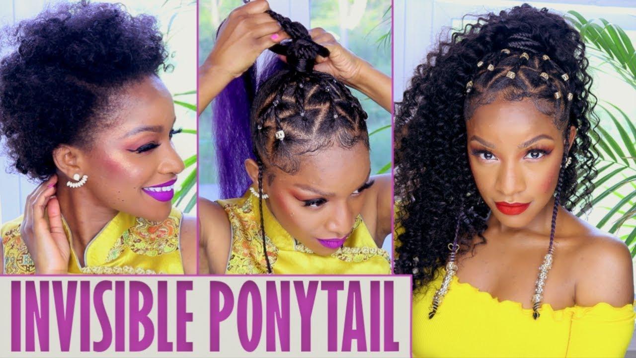 Island Vibes 🍍 Ponytail W Braids Amp Beads Tutorial Youtube