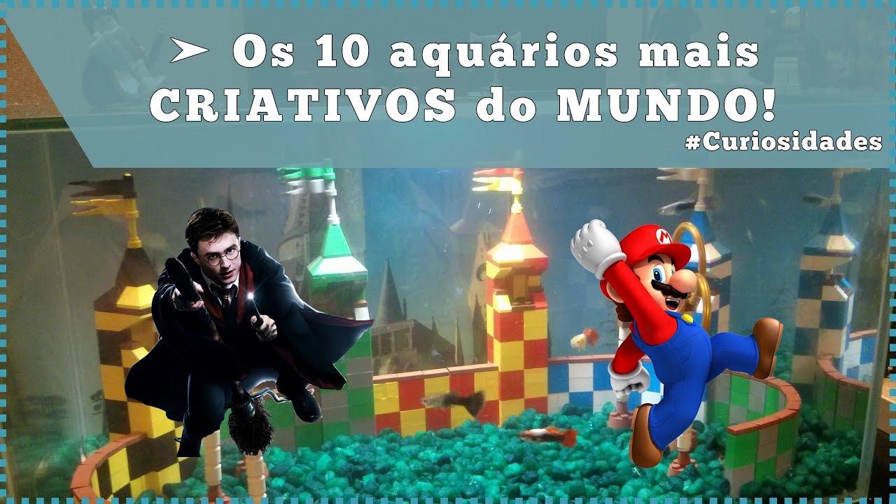 Os 10 aquários mais CRIATIVOS do MUNDO!