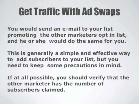 Get Traffic with Ad Swaps
