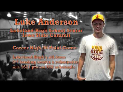 Luke Anderson Basketball Highlights From LHS Vs George Jenkins