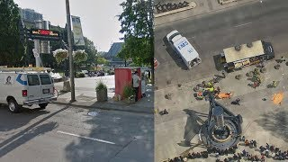 Street View shows route taken by van in Toronto attack