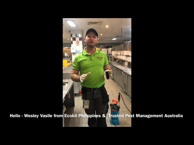 How to do a General Pest Control Treatment in a Commerical Kitchen - using Seclira