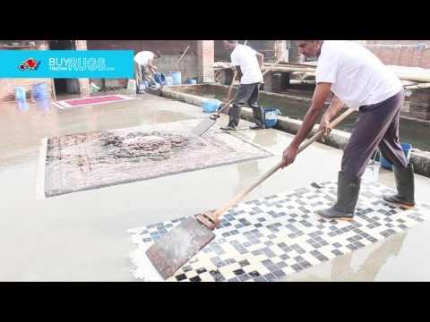 Tibetan Rugs and carpet Washing process