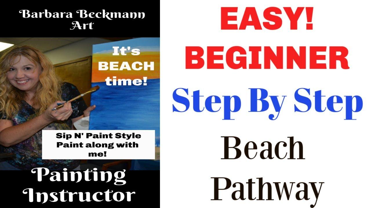 Easy Beginner Acrylic Painting Sip N Paint Fundraiser