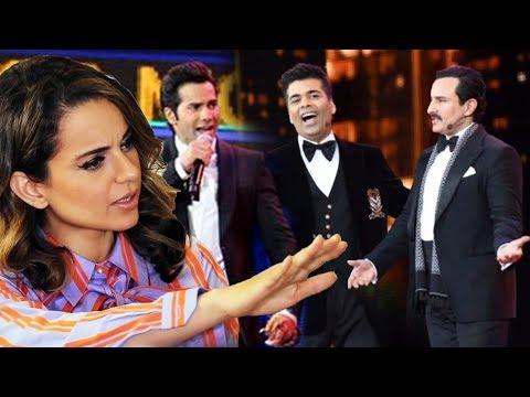 Kangana Ranaut REACTION On Karan Johar, Varun Dhawan, Saif Joke On Nepotism