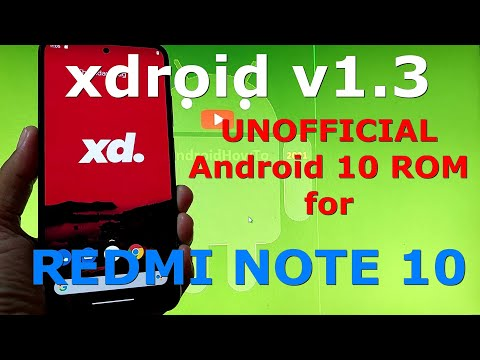 xdroid v1.3 UNOFFICIAL for Redmi Note 10 ( Mojito / Sunny ) Android 11