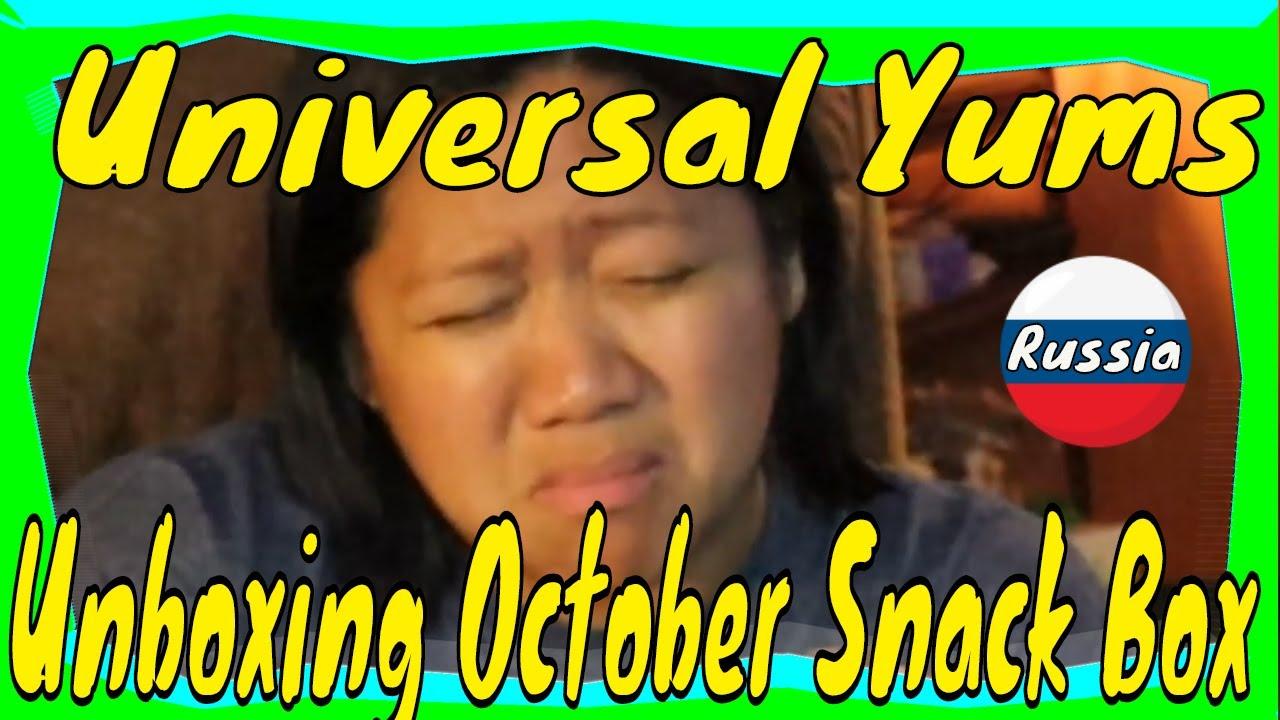 Universal Yums | Yum Box Unboxing and Taste Test | Russia | Yum-Yum Box | October 2020