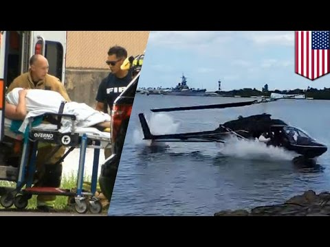 Pearl Harbor helicopter crash: Teen critical after being trapped inside downed chopper - TomoNews