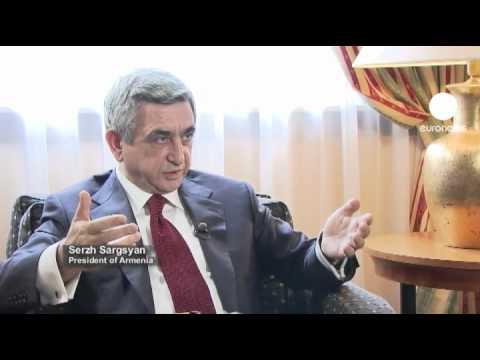 """euronews interview - الرئيس الأرمني سارج سركاسيان """"..."""