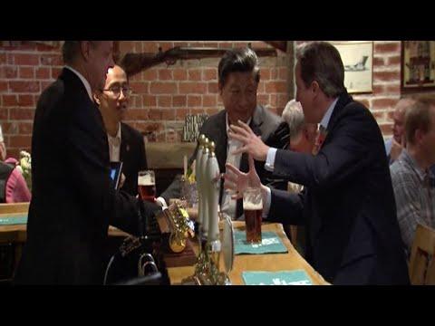 Cameron Treats Xi to Beer, Pub Meal