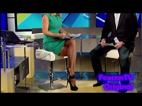 Heather Childers Dark Tan Pantyhose 01 28 13 HD