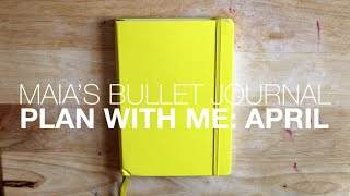 maia s bullet journal  plan with me april
