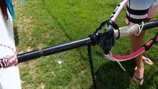 Windsurfing stuck mast removal