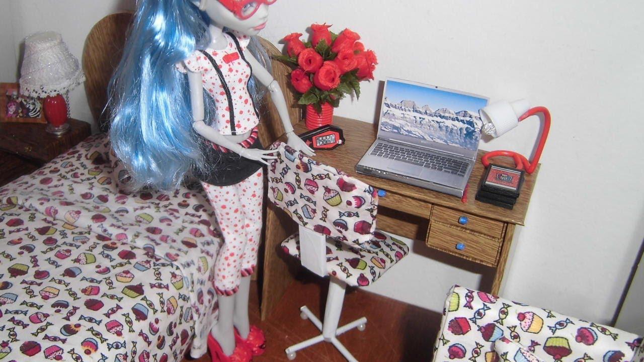 Como fazer uma cadeira de escrit?rio para boneca Monster High, Pullip ...