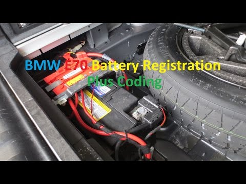 BMW E70 X5 Battery Registration and Coding.  Switch from AGM to Lead Acid