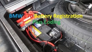 bmw e70 x5 battery registration and coding switch from agm to lead acid