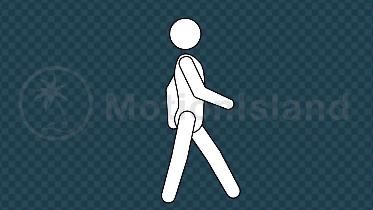 Line Art In After Effects : Stick figure walk cycle video after effects template youtube