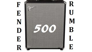 Fender Rumble 500 Combo - Review and Demo