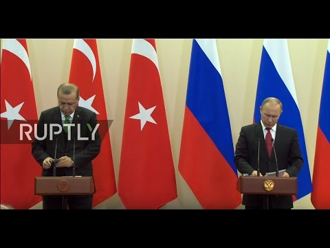 LIVE: Putin and Erdogan hold joint press conference in Sochi - Russian
