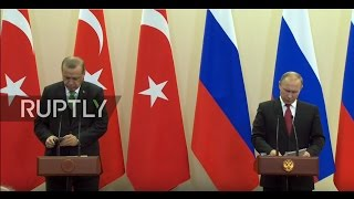 LIVE: Putin and Erdogan hold joint press conference in Sochi - Russian Russian President Vladimir Putin and Turkish President Recep Tayyip Erdogan are due to hold a joint press conference in Sochi on Wednesday, May 3.