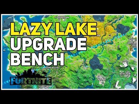 Weapon Upgrade Bench Lazy Lake Fortnite Youtube