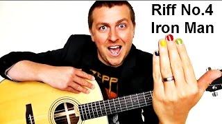 Easy Beginner Guitar Lesson - Iron Man - Riff No.4 - Drue James