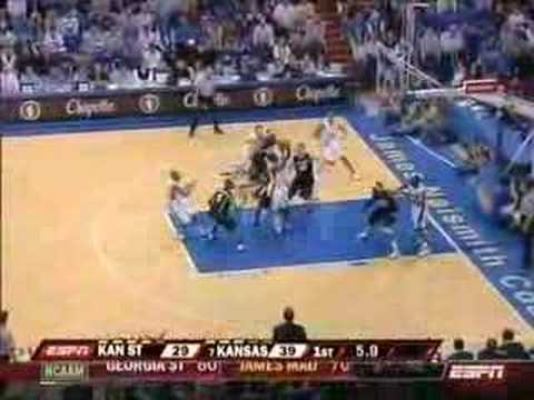 Brandon Rush / Sherron Collins / KU vs KSU (3/1/08)