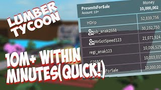 HOW TO DUPE MONEY/ UNLIMITED MONEY GLITCH [NOT PATCHED] Lumber Tycoon 2 Roblox 2019