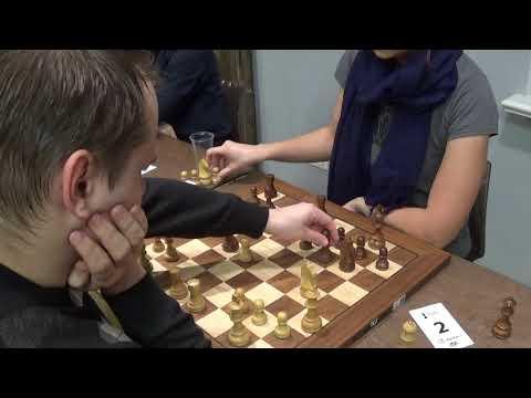 GM Ilmars Starostits – WGM Laura Rogule, Queen's pawn opening, Blitz chess