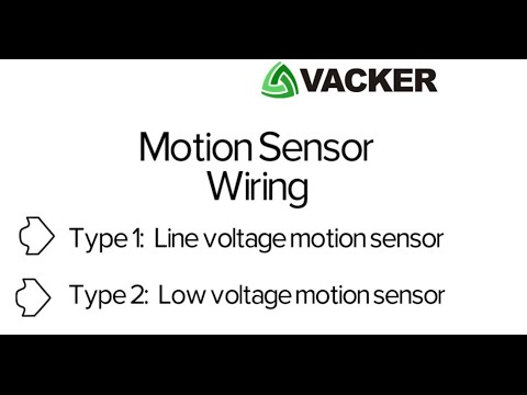 How to do wiring of Motion Sensor Light | Vacker UAE