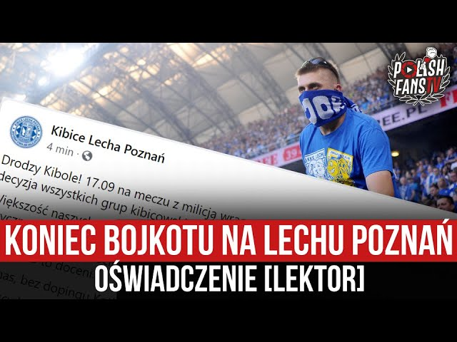 Koniec bojkotu Lecha