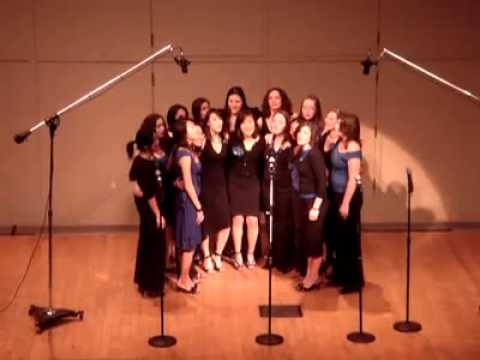 "Wellesley College Blue Notes A Cappella Performance of ""Come With Me"""