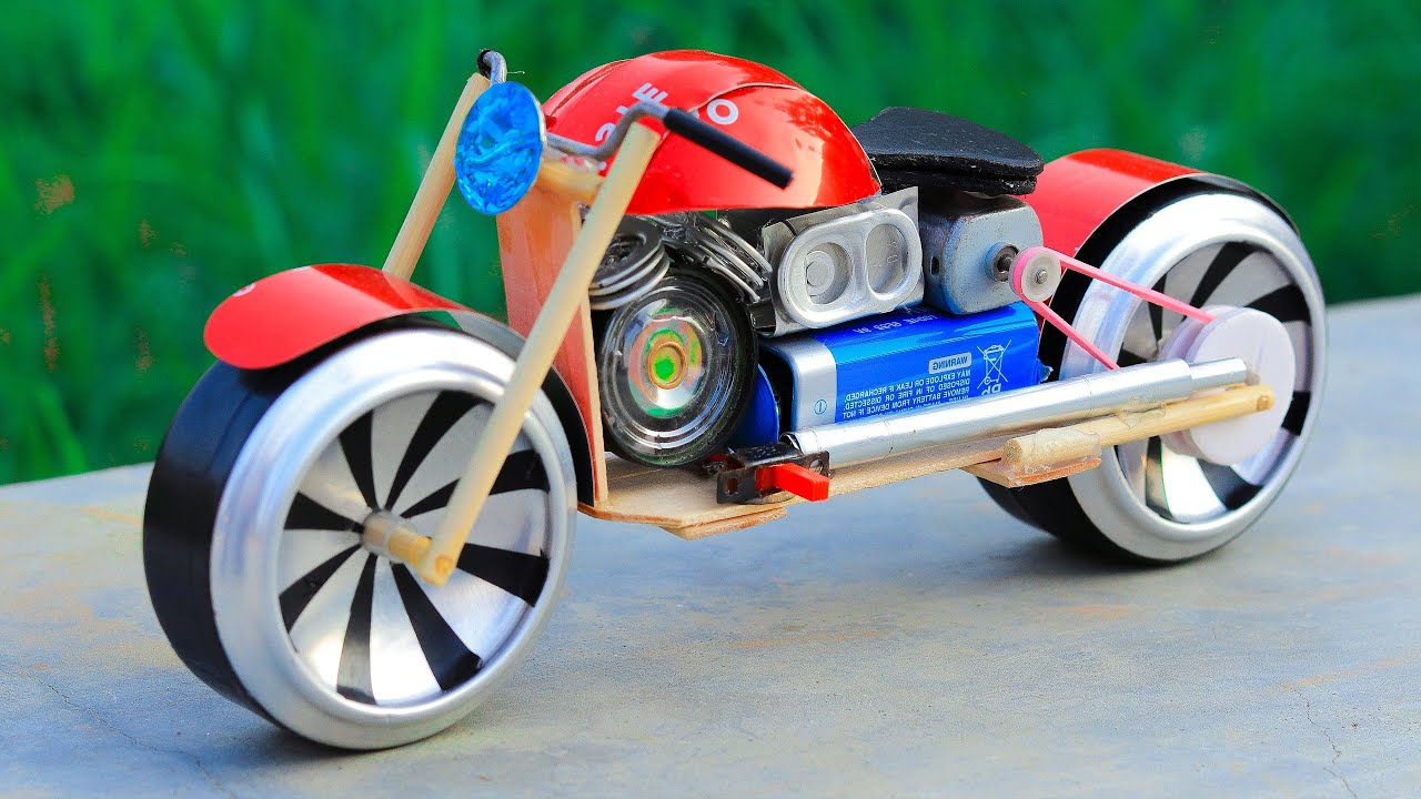How to Make Toy Motorcycle at Home - Amazing DIY Bike