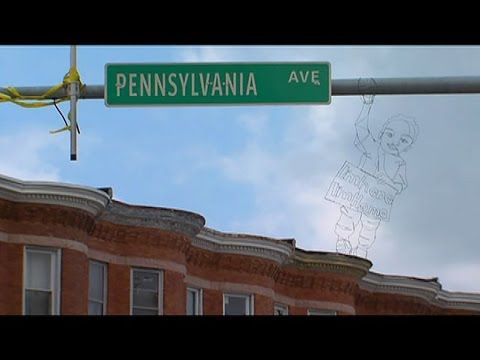 Bob Delmont - Baltimore Street Artist depicts Mayor Pugh's Healthy Holly, in a bad way